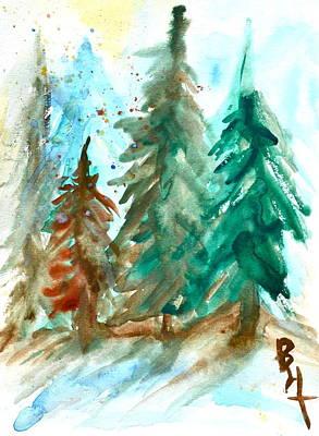 Evergreen Forest Art Print