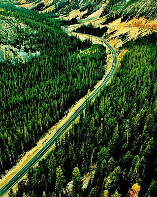 Evergreen Highway Art Print by Benjamin Yeager