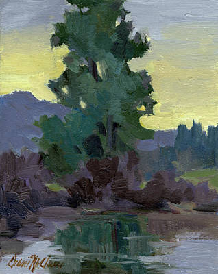 Painting - Evergreen Reflections by Diane McClary