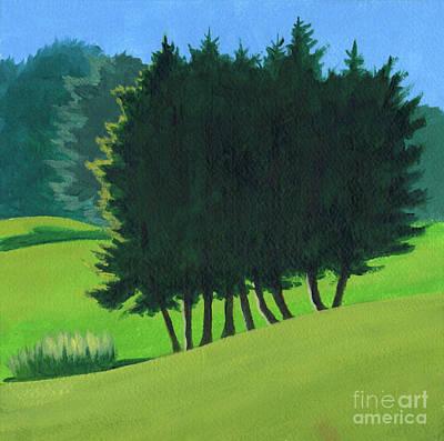 Wall Art - Painting - Evergreens by Arlene Kelley