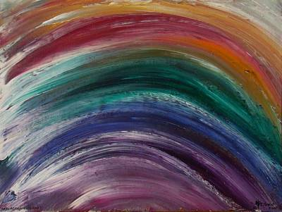 Painting - Everlasting Covenant Rainbow by Christine Nichols
