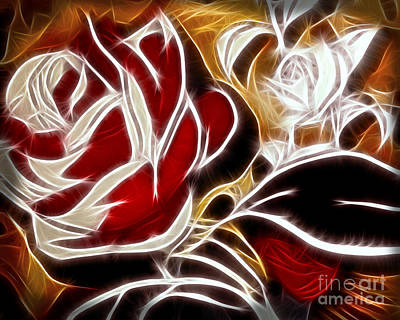 Digital Art - Everlasting Rose by Lutz Baar