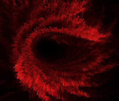 Abstract Digital Art - Every 60 Seconds Your Red Blood Cells Do A Complete Circuit Of Your Body by Sir Josef - Social Critic - ART