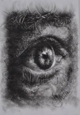 Drawing - Every Eye Tells Its Own Story by Linda Ferreira