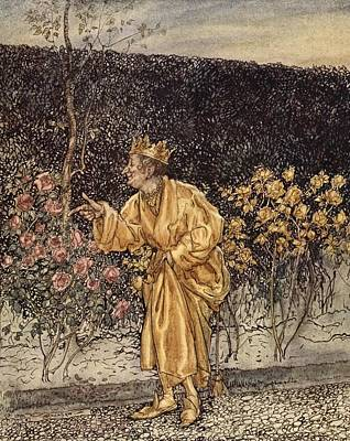 Every Flower Changed To Gold Art Print by Arthur Rackham