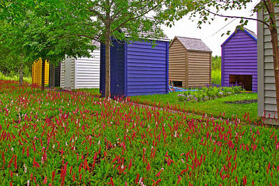 Every Garden Needs A Shed And Lawn In Les Jardins De Metis/reford Gardens-qc Art Print by Ruth Hager