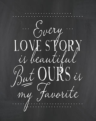Painting - Every Love Story by Amy Cummings