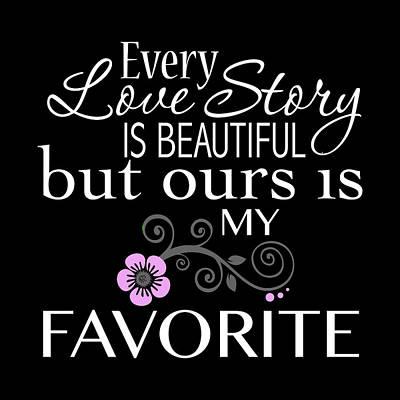 Every Love Story Is Beautiful Art Print by Purple Moon