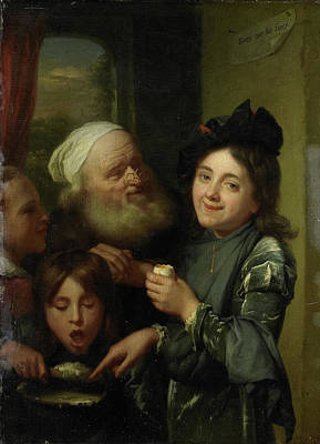 Every One His Fancy, Godfried Schalcken Art Print by Litz Collection