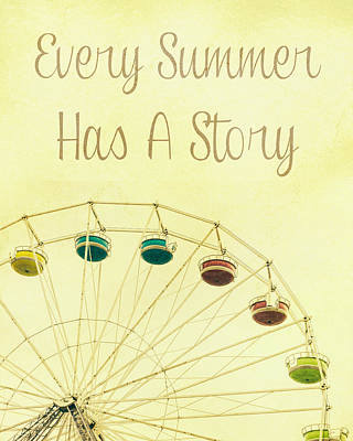 Every Summer Has A Story Art Print by Pati Photography