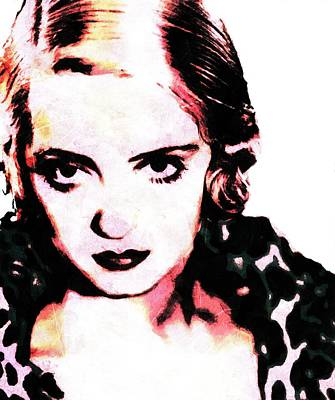 Betty Davis Painting - Everybody Has A Heart. Except Some People. Bette Davis  by Leapdaybride