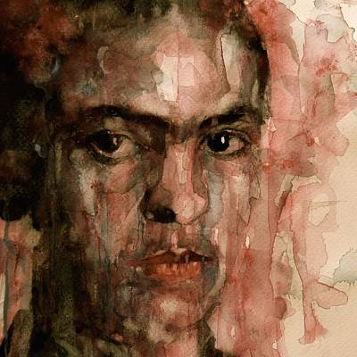 Self Portrait Painting - Everybody Hurts by Paul Lovering
