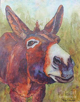 Jackass Painting - Everybody Needs A Jackass To Love by Robin Hegemier