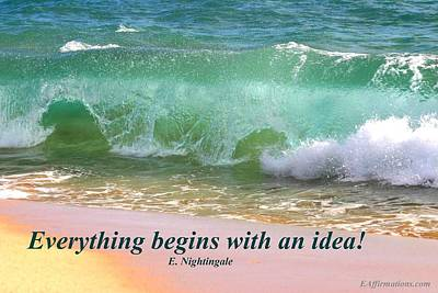 Everything Begins With An Idea Art Print by Pharaoh Martin