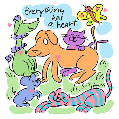 Wall Art - Painting - Everything Has A Heart by Sally Huss