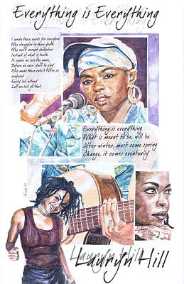 Lauryn Hill Painting - Everything Is Everything by Adrienne Norris