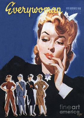 Everywoman 1942 1940s Uk Womens Art Print