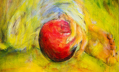 Painting - Eve's Apple Abstract by Nik Helbig