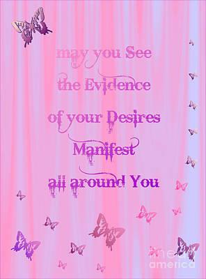 Digital Art - Evidence Of Desire Manifest by Marianne NANA Betts