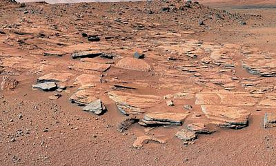 Dry Lake Photograph - Evidence Of Water Flow On Mars by Nasa/jpl-caltech/msss