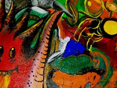 Aloe Vera Painting - Evil Aloe Vera by Laurette Escobar
