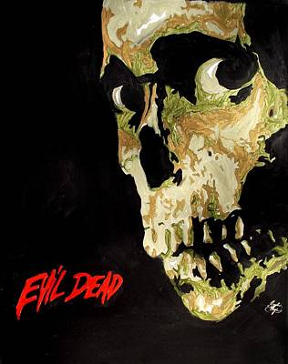 Painting - Evil Dead Skull by Marisela Mungia