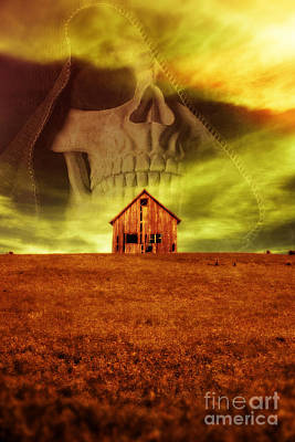 Evil Dwells In The Haunted House On The Hill Art Print