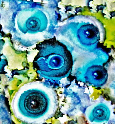 Religious Amulet Painting - Evil Eye Protection  Alcohol Inks by Danielle  Parent