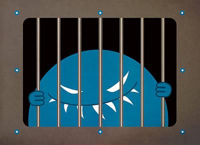 Evil Monster Kingpin Jailed Art Print