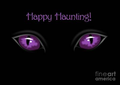 Digital Art - Evil Purple Eyes by JH Designs