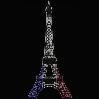 Evil Tower And France Flag Original by Lovely Arts