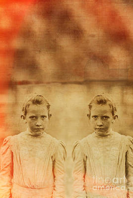 Two Sisters Photograph - Evil Twins by Edward Fielding