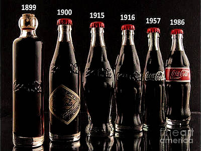 Evolution Of Coca Cola Tm Art Print by Merton Allen