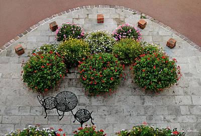 Photograph - Evreux Courtyard by Joe Bonita