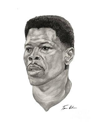 New York Knicks Painting - Ewing by Tamir Barkan