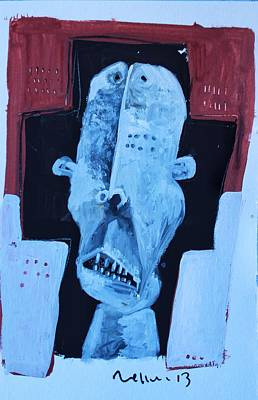Outsider Art Painting - Exanimus No. 7  by Mark M  Mellon