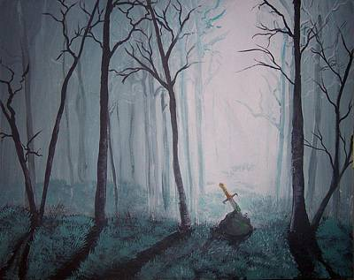 Excalibur Painting - Excalibur by Melody Leach