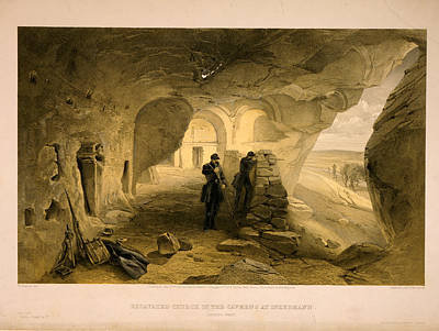 Cavern Drawing - Excavated Church In The Caverns At Inkermann by Litz Collection