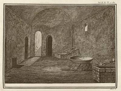 Excavated Room At Pompeii Art Print by Middle Temple Library