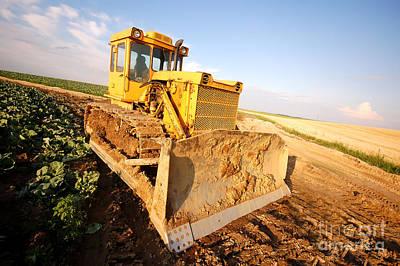 Dirt Photograph - Excavator Working by Michal Bednarek