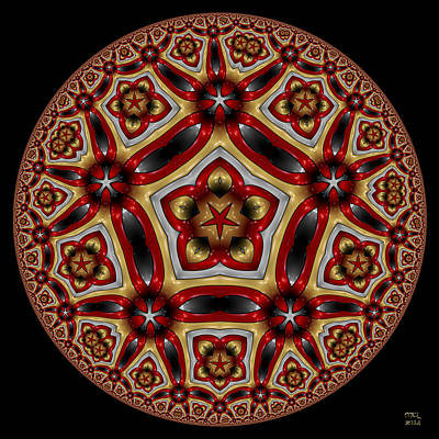 Digital Art - Excelsior - Hyperbolic Disk by Manny Lorenzo