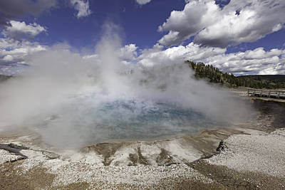 Photograph - Excelsior Geyser Crater In Yellowstone National Park by Fran Riley