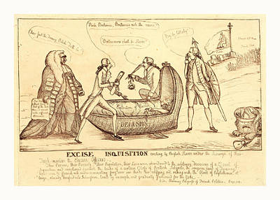 Excise Inquisition Erecting By English Slaves Art Print by English School