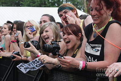 Photograph - Excited Concert Fans by Concert Photos