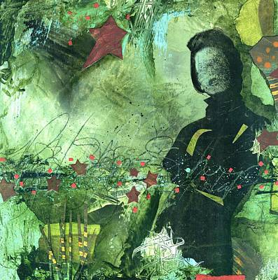 Collage Mixed Media - Excited One  by Laura  Lein-Svencner