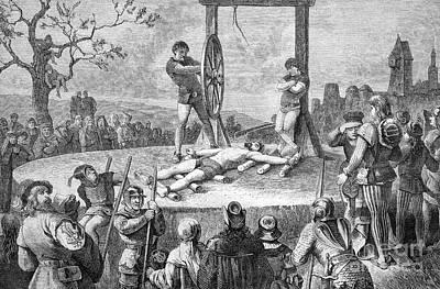 Execution By Wheel, Historical Artwork Art Print by Bildagentur-online