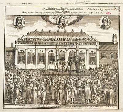 Execution Of Charles I Print by British Library