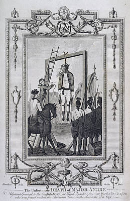 War Of Independance Photograph - Execution Of Major Andre by British Library