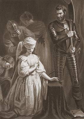 Execution Of Mary Queen Of Scots Art Print