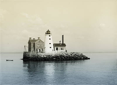 Sound Digital Art - Execution Rocks Lighthouse New York  by Bill Cannon
